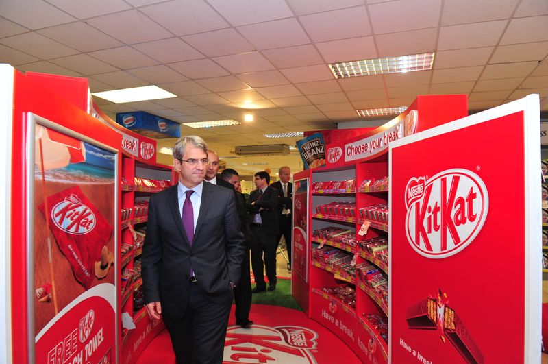 Nestle' Executive Vice-President and Zone Director of Europe, Laurent Freixe at Smart Supermarket in Birkirkara.